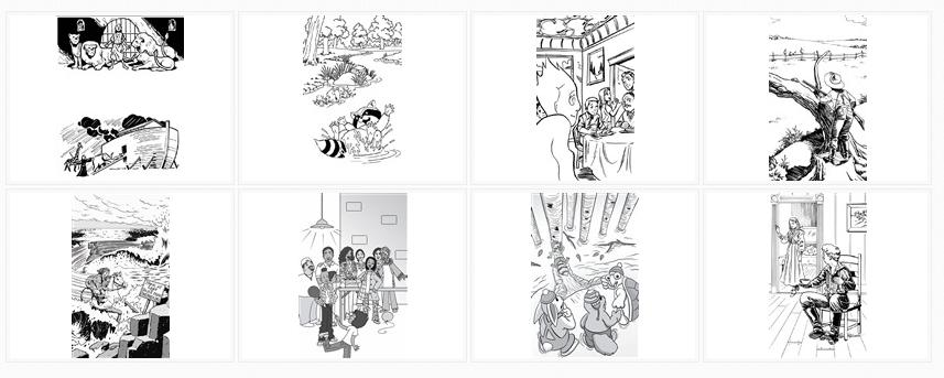 Visit the Black and White Sample Illustrations Gallery